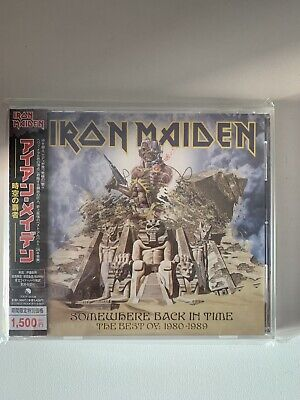 Iron Maiden Somewhere Back In Time Sealed Japan cd 2010