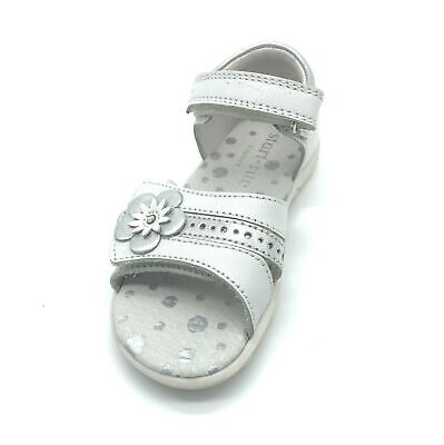 Start-rite Phoebe White/Silver Leather Girls Sandals 40% OFF RRP