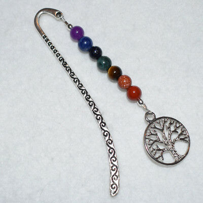 Colourful Gemstones Chakra Tree Of Life Charm Bookmark Teacher Friend Term Gift