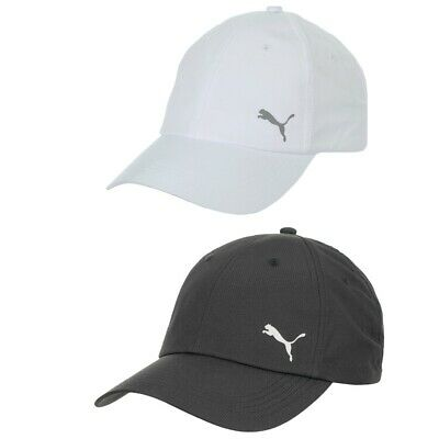 best sneakers 33318 249e1 Puma Poly Cot Running Logo Hat Black White Mens Womens 052908 Cap One Size