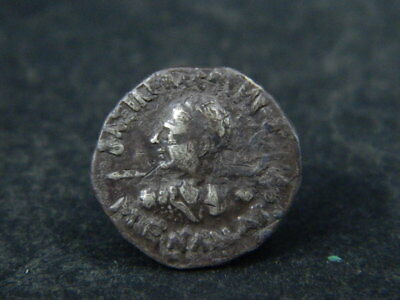 Ancient Silver Coin Bactrian 100 BC #BR6402