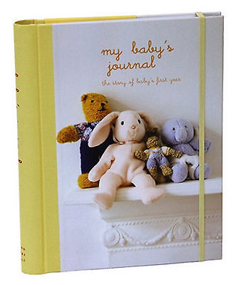 My Baby's Journal Unisex Keepsake Book Yellow, Hard Back with Dividers - USED