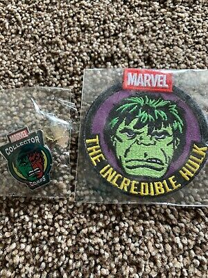 THE INCREDIBLE HULK PATCH MARVEL COLLECTOR CORPS FUNKO NEW RARE EXCLUSIVE & Pin