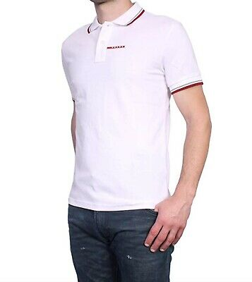 1ff9748f7 GUCCI POLO SHIRT Embroidered Pique White Short Sleeve Size Medium ...