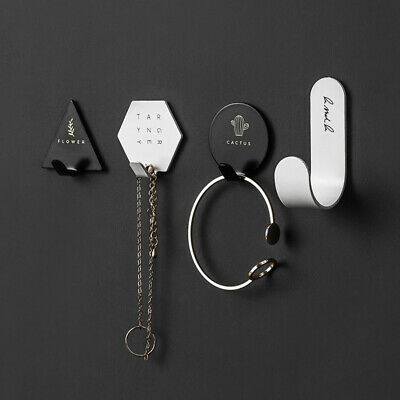 4 PCS Set Stainless Steel Hooks Hanging Home Bathroom Hanger Kitchen Holders