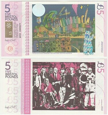 United Kingdom Bristol £5 5 Pound UNC Local Currency 2nd series Banknote