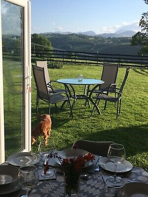 Accommodation In Eglwysbach. Kitchen bathroom and bedroom with views to Snowdon