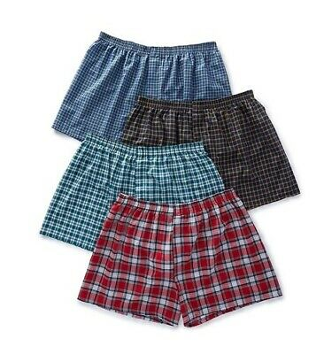 "Fruit of the Loom® BIG MEN'S DUAL DEFENSE WOVEN BOXERS 4/8-Pack 3XL  ""TAGLESS"""