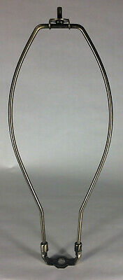 """New 14"""" Lamp Harp w/ Antique Brass Finish, Heavy Weight, Protective Coating #66A"""
