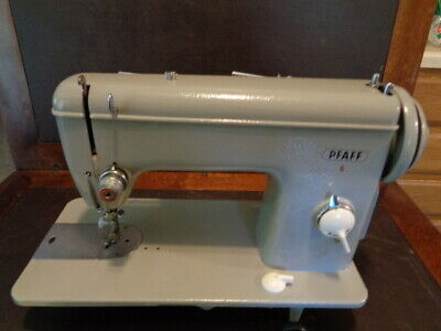 Vintage Pfaff Model-6 Sewing Machine With Attachments & Light