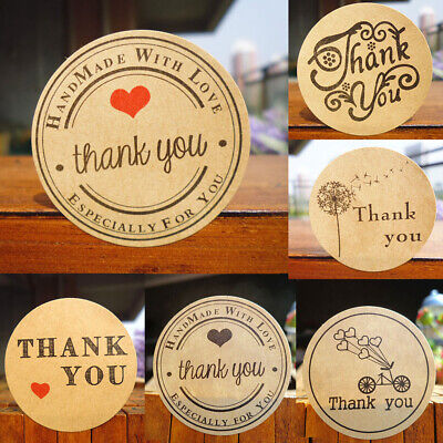 Decor Paper Party Supplies Kraft Stickers Thank You Sealing Tag Package Label