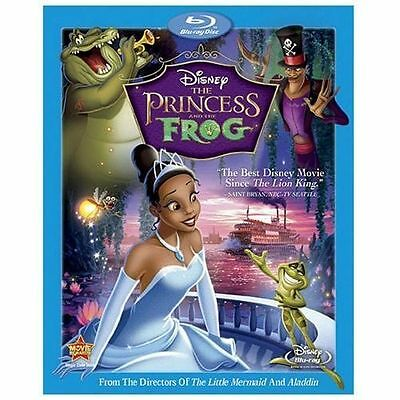 The Princess and the Frog (Blu-ray Disc and dvd, 2010) No Slip Cover