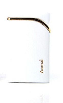 Torch Lighter Single Jet Flame Gas Refillable Windproof White Metallic Slim
