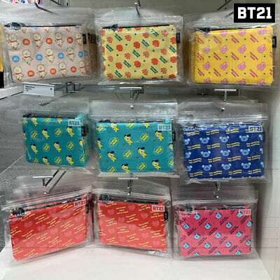 BTS BT21 Official Authentic Goods Pattern Pouch 18 x 12.6cm / 7.1 x 4.9in