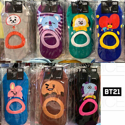 BTS BT21 Official Authentic Goods Boat Socks 2P SET 230~250mm 7Characters