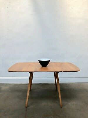 Vintage 60's Ercol Windsor Blonde Plank Dining Table. Danish Retro. DELIVERY