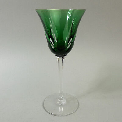 Fine Quality St Louis French Cut & Flashed Hock Glass