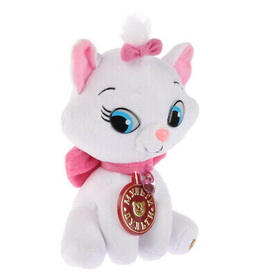 White Cat Soft Toy. Stuffed Animal Plush Toy Kitten with Pink Bow