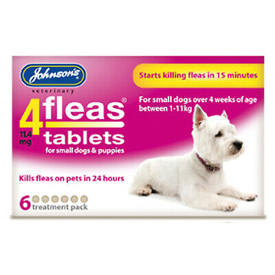Johnson'S Veterinary 4Fleas Tablets For Puppies & Small Dogs - 6 TABLETS  [D084]