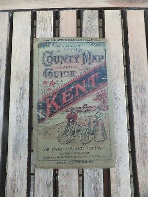 Cloth Bacon's Map of Kent for Cyclists & Tourists Bacon,s County Map & Guide