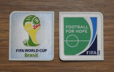 FIFA World Cup Brazil 2014 & Football For Hope Sleeve Patches/Badges Real pics