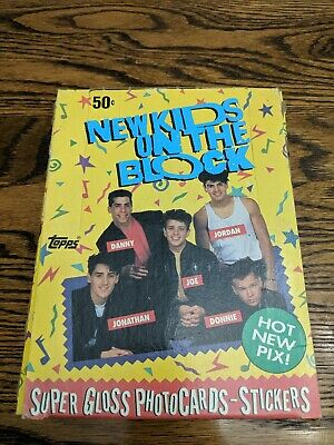 New Kids On The Block Trading Cards Wax Box Series 1 - 36 Unopened Packs Per Box