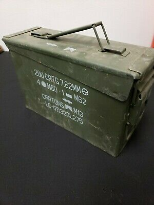 30 Cal Metal Ammo Can – Military Steel Box Shotgun Rifle Nerf Gun Ammo Storage