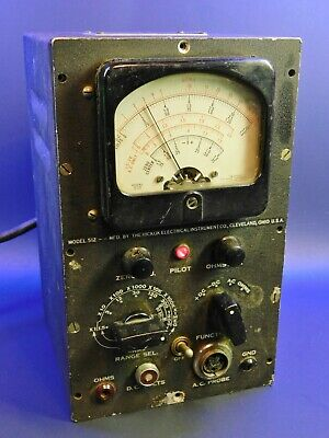 Vintage Hickock Electrical Model 512 Vacuum Tube Multimeter