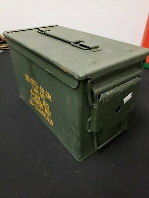 50 Cal Metal Ammo Can 1-Pack – Military Steel Box Shotgun Rifle Gun Ammo Storage