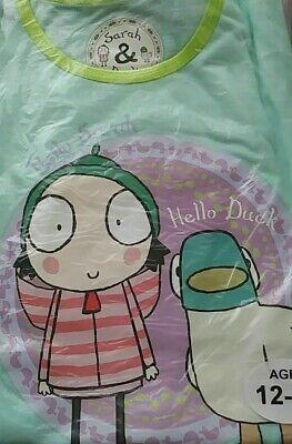 Sarah and duck girls pyjama set. Sizes from 12-18 months to 3-4 years. New