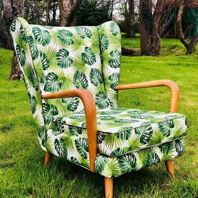 Vintage Mid Century Wooden 1950's Howard Keith Bambino Cocktail Chair
