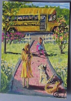 ACEO Original by CShel-'Last Day of School'-Life, People, Experiences- Impressio