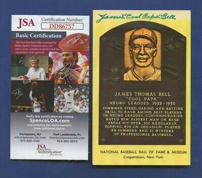"""James """"Cool Papa"""" Bell Negro League JSA Authenticated Autographed Post Card !!"""