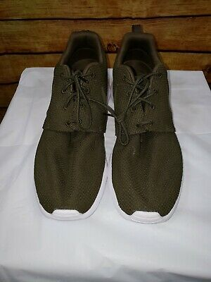 official photos dae37 aec86 Nike Mens Size 12 Roshe Two Flyknit V2 Sequoia Olive Green Athletic Run  Shoes