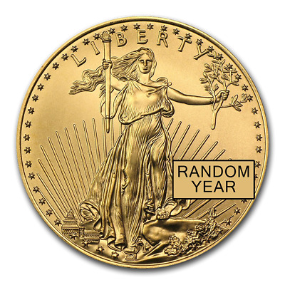 1/2 oz Gold American Eagle BU (Random Year) - SKU #83878