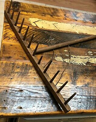 Primitive Old Wooden Hay Rake