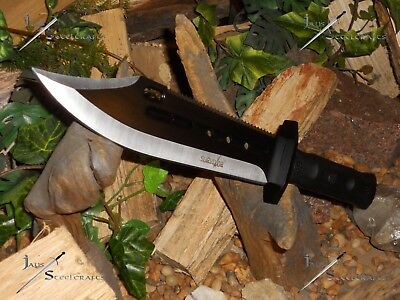 Survivor/Knife/Bowie/Blade/Full tang/MOLLE sheath/Hunting/Survival/Combat