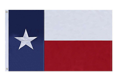 4x6 Texas Flag Embroidered Texas State Banner Grommets FAST USA SHIPPING