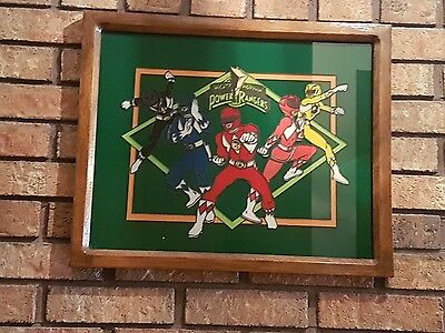 Hand Painted And Framed Power Rangers Artwork