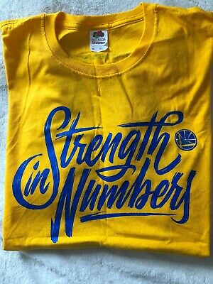 6f289d36 NBA Golden State Warriors Strength In Numbers 2018 Conference Finals T-Shirt  XL