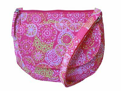 Zippered Shoulder/ Cross Body/ Quilted Bag Pink