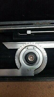Starrett 359 Universal Bevel Protractor Complete / Perfect!! Used, Never Abused.