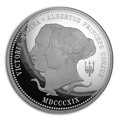 SKU#190939 2019 GB £5 Silver Proof Queen Victoria/'s 200th Anniv Piedfort