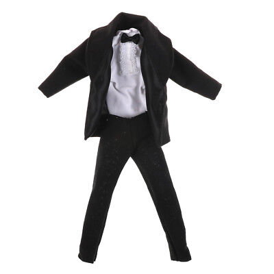 1set Formal Suit Black Bowtie Wedding Groom Clothes Tuxedo For doll  DollO TE