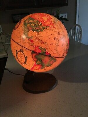 Vintage Globe/ Lamp Illuminated Underwriters Laboratories