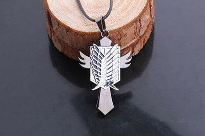 Hot Anime Attack On Titan Scouting Legion Cross Alloy Pendant Necklace
