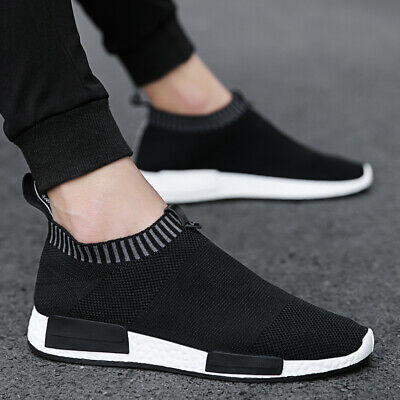 7ff5252e4335a MENS SNEAKERS TRAINERS Slip On Sock Walking Casual Runners Comfy Knit Gym  Shoes