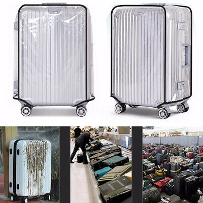 """18""""-30"""" PVC Transparent Travel Luggage Protector Suitcase Dust Cover Waterproof"""