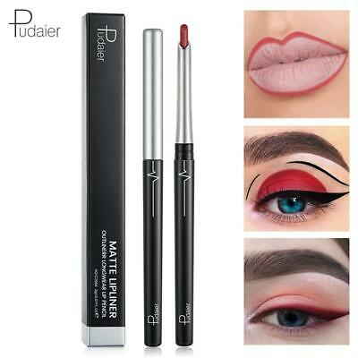 Longlasting Pencil Cosmetics Lip Make Up Eyeliner Pen Matte Lipliner