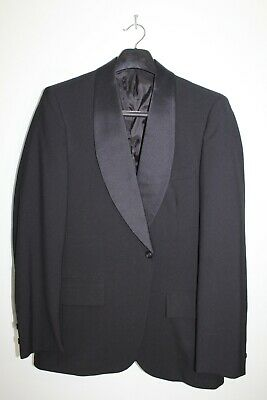 Mens Size 39R Solid Black Shawl Lapel Suit/Tuxedo Jacket Formal Prom Wedding